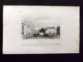 Dugdale C1840 Antique Print. Morpeth, Northumberland